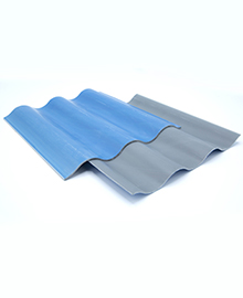 Sinus roof covering sheets