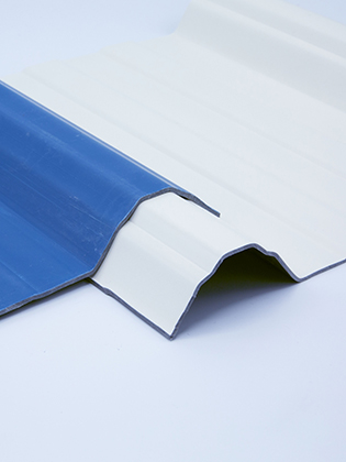 Shadow line roof covering sheets